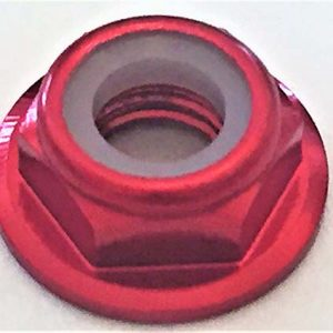 Aluminium M5 Flange lock nut Red